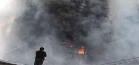 Un coloso de Shanghai en llamas