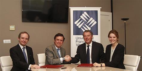 El rector de la UFV y Michavila.