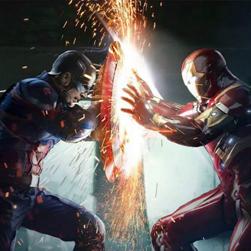 Los dos superh�roes en pugna